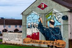 Mural showing Martin Luther, part of a re-imaging project to replace more controversial murals in the Shankill neighborhood of Belfast, Northern Ireland (article on touring the murals)