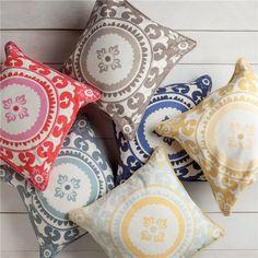 Surya Celestial Poppy Red & Carnation Pink Decorative Pillow - Save 15% Off all Surya with code SURYA15 thru 3/31/15