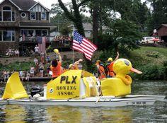 Portage Lakes Ohio  Boat Parade