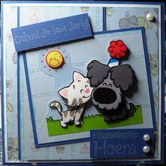 Woezel en Pip Cardmaking, Frame, Cards, Home Decor, Paper Board, Picture Frame, Decoration Home, Room Decor, Maps