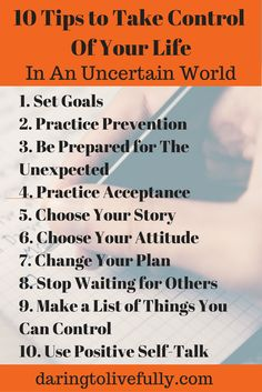 There are things you can do to take control of your life, even in an uncertain world.