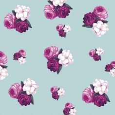 Vintage Floral Roses Wallpaper Free Stock Photo