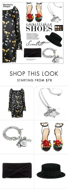 """""""Dark Florals"""" by shambala-379 ❤ liked on Polyvore featuring Mother of Pearl, Charlotte Olympia, Reiss, Maison Michel and Down to Earth"""