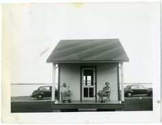 Our house. 1950s - Often wonder if i should have a house like this - save the rest of my mortgage money and use it to travel the world!!