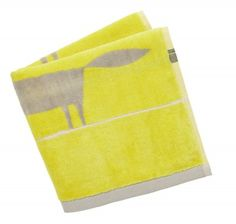 Mr Fox Citrus Guest Towel (317405) - Scion Towels - The delightful Mr Fox motif on a guest towel in a citrus colourway. Available in other sizes.