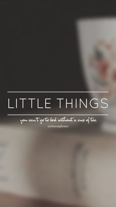 Little Things // One Direction // ctto: @stylinsonphones (on Twitter)