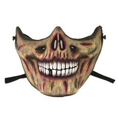 Skull Mouth Half Mask - 393838   trendyhalloween.com Halloween Club, Trendy Halloween, Halloween Home Decor, Halloween House, Halloween Masks, Halloween Makeup, Halloween Forum, Villain Mask, Zombie Clothes
