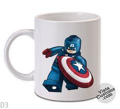 avengers lego captain america Mug, Coffee mug coffee, Mug tea, Design for mug