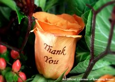 Personalised Thank you flowers.