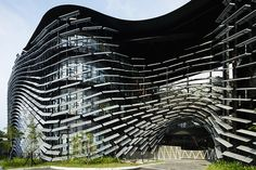 Industrial Technology Research Institute Central Taiwan Innovation Campus Exterior Design Kinetic Architecture, Unique Architecture, Facade Architecture, Facade Design, Exterior Design, Cgi, Taiwan, Science Park, Square Art