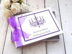 Classic Frame personalised wedding guest book chandelier