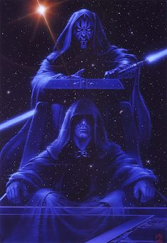 Maul and Sidious /by ?? #starwars #art