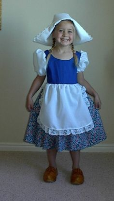 Cute Little Dutch Girl Costume Dress and Hat by enchantedkingdom, $45.00