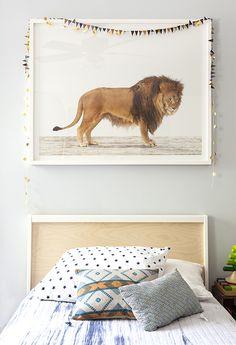 lion photo // boy's bedroom