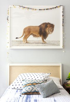 lion photo // boy's bedroom
