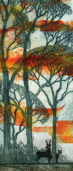 Last Light - unframed - Kerry Buck - Southwold Gallery Botanical Drawings, Beach Scenes, Quilting Projects, Painting Inspiration, Art For Sale, Printmaking, Art Gallery, Landscape, Sea Paintings