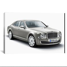 Bentley Mulsanne Gray by Unknown Artist What a way to decorate! your favorite pieces of history on a nice canvas. A perfect way to match up your mancave, bedroom, garage, gameroom etc. Great Art Deser
