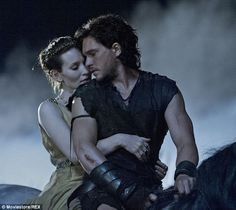 Pompeii (2014) - Kit Harington as Milo and Emily Browning as Cassia #CostumeDesign: Wendy Partridge