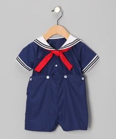 Another great find on #zulily! Navy Bobby Romper - Infant by Petit Ami #zulilyfinds