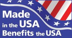 When more products are made in America, there will be greater opportunity for our people to make it in America.
