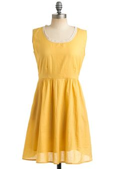 happy color. dresses like these look deceptively simple to make..