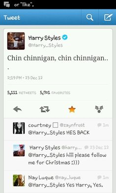 Harry is back! And he makes no sense at all. I love him. i want to cry.