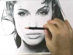 How to Draw a Realistic Angelina Jolie Speed Drawing