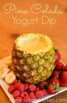 Pina Colada Yogurt Dip recipe