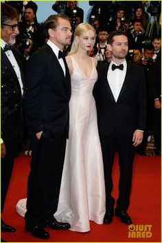 The Great Gatsby (2013)   International Premiere: Leonardo DiCaprio (Gatsby), Carey Mulligan (Daisy Buchanan) and Tobey Maguire (Nick Carraway) on the red carpet at Cannes.