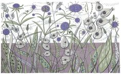By Green Bank - screenprint by Angie Lewin - printmaker
