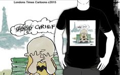 #CharlieHebdo #charliebrown #goodgrief #tshirt by @LTCartoons #redbubble #paris #terrorism #benefit #charity #gift