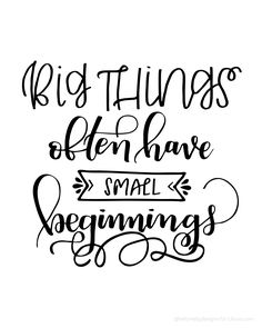 Big things often hav