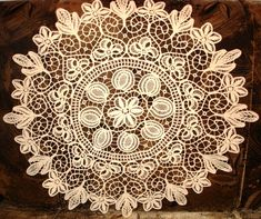 Beautiful example of a Romanian Point Lace crochet mat