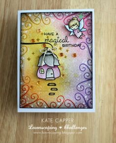 Just Kate crafting: Lawnscaping #130 sparkle it up Sponsored by LAWN FAWN