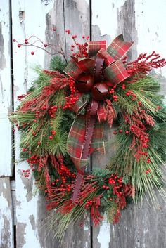 Wreath--Pine & Berry wreath