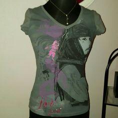 Johnny Depp tee Fitted tee shirt for Johnny Depp die hards. NWOT never worn Disney Store Tops Crop Tops