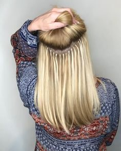 Pin by Pursuing haven on Victoria Anderson Nashville Hairstylist [Video] Hair Extensions Tutorial, Hair Extensions Before And After, Hair Extensions For Short Hair, Eyelash Extensions, Balayage Hair Blonde, Brown Blonde Hair, Blonde Highlights, Color Highlights, Hair Color Blue