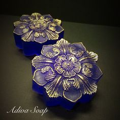 Lavender and Musk! Hand painting with mica on glycerin soap for Mother's Day Custom Orders!