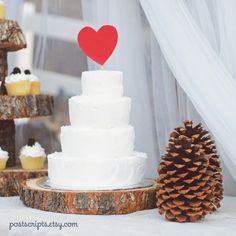 Rustic Wood Cake Base