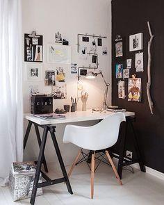 """541 curtidas, 2 comentários - DIY Home (@diyhomebr) no Instagram: """"Só um Home Office bem estiloso pra me animar a trabalhar amanhã. rsrs #decor #decoração…"""""""