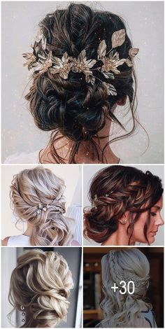 30 Wedding Hairstyles 2019 Ideas ❤️ We have collected wedding makeup ideas b. - - 30 Wedding Hairstyles 2019 Ideas ❤️ We have collected wedding makeup ideas based on the wedding fashion week. Look through our gallery of wedding hair. Wedding Hair Half, Wedding Hair And Makeup, Bridal Hair, Hair Makeup, Pearl Bridal, Wedding Hairstyles And Makeup, Wedding Nails, Wedding Rings, Boho Wedding Hair Updo
