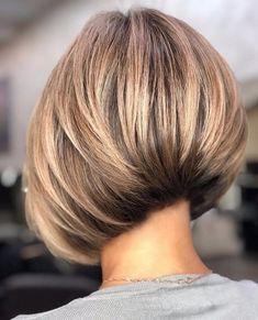 Short Layered Bob Haircuts, Short Hairstyles For Thick Hair, Short Hair With Layers, Short Hair Cuts, Cool Hairstyles, Hair Short Bobs, Bobs For Thick Hair, Inverted Bob With Layers, Concave Bob Hairstyles