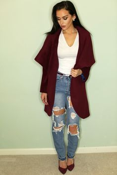 Day to Night Outfit Ideas | Burgundy | the Fashion Bybel