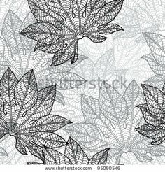Vector illustration of leaves. (Seamless Pattern) by Incomible, via Shutterstock