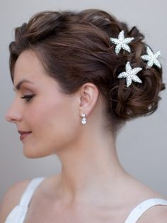 Rhinestone Starfish Hair Pin - Hair Comes the Bride Bridal Hair Accessories & Headpieces, Wedding Jewelry, Hair & Makeup