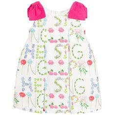Balloon Chic Girls Cotton Hello Spring Dress at Childrensalon.com  Ανοιξιάτικα Φορέματα 98493851745