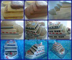 Wie funktioniert`s - Das making of eines Kreuzfahrtschiff-Kuches - (mehr auf kids-on-Cruise.de)  Boat/cruise ship cake tutorial
