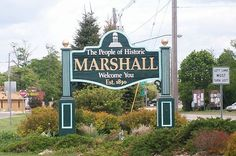 Marshall, Michigan...a hot spot for antique shopping and a trip around one of the first traffic circles in Michigan!