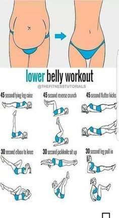 "Lower belly ""pooch"" workout"