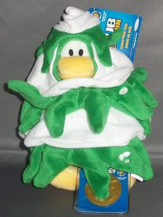 CHRISTMAS TREE Disney Club Penguin Series 10 Plush w/ New Coin Code $7.34 #ClubPenguin